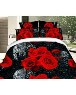 4 Pieces Complete Bedding Set 3D Effect Design and Pillowcases