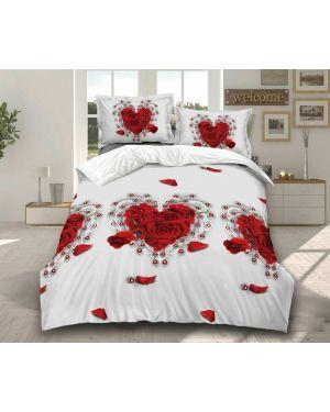 Luxury 3D Effect 4 Piece Duvet Set Quilt Cover Complete Bedding Set Top Quality