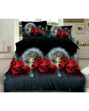 3D Design 4 Pcs Duvet Quilt Cover Sets Fitted Sheet Pillowcases Complete Bedding
