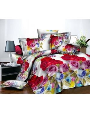 3D Effect Bedding Cover Set Bed Throw Comforter Fitted Sheet Pillowcase