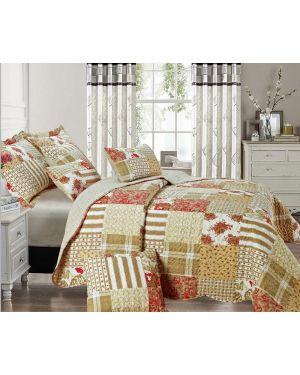 Dronil Vintage Style Printed Bedspread