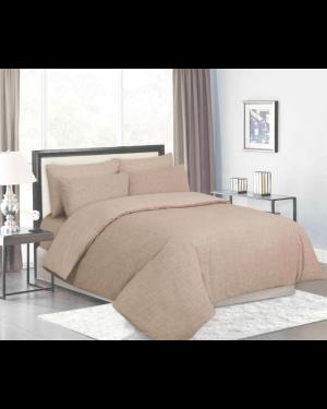 Sopron cotton complete bedding set printed design Beige