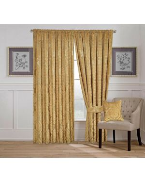 Amber Jacquard Tape Top Pencil Pleat Window Beige Curtains/Cushion Cover