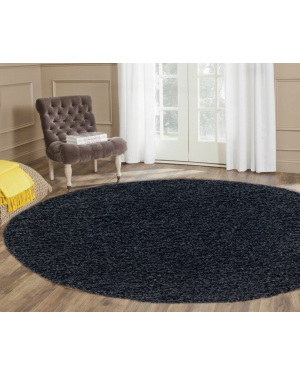 Antibacterial Black Round Center Piece Ashely Rug