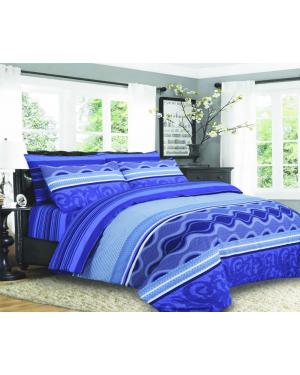Sopron cotton complete bedding set printed design Blue