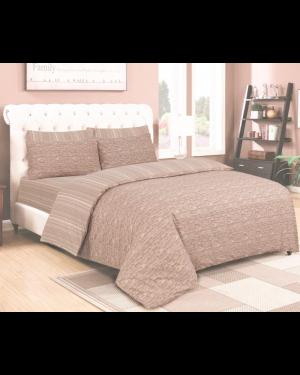 Sopron cotton complete bedding set printed design Beige Cream