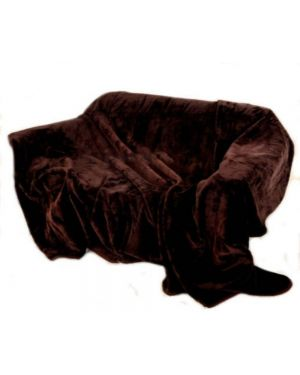 kembe Faux Silk throw Chocolate mink throw sofa bed comforter