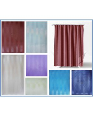 Luxor Bathroom Shower Curtains Polyester Fabric Waterproof Curtain With Hooks