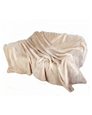Faux kembe Silk Mink Throw Satin Sofa Bed Throw Runner in Cream