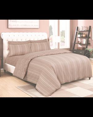 Sopron cotton complete bedding set printed design Cream Beige