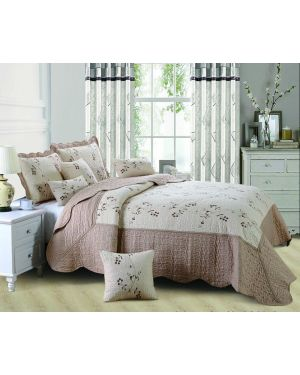 Gold Beige Eger bedspread with pillow shams