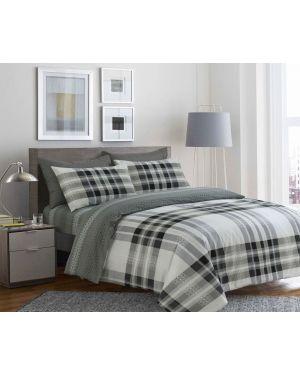 Sopron Complete Cotton Bedding Set Printed Design Light Grey
