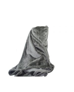 Faux kembe Silk Mink Throw Satin Sofa Bed Throw Runner in Grey
