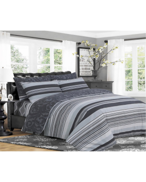 Sopron cotton complete bedding set printed design Grey