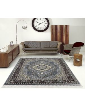 Vintage Traditional Style indus Grey Rug carpet