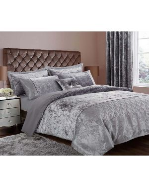 Silver Crushed velvet soyo Duvet Cover Set