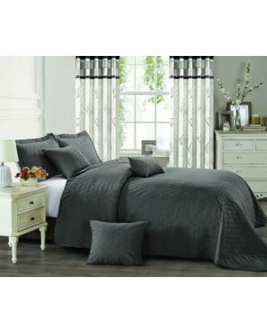 Horsen Grey heat pressed bedspread with pillow shams