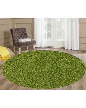 Ashely lime Round Center Piece Stain Resistant  Rug