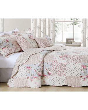 Printed Finah Vintage bedspread with pillow shams
