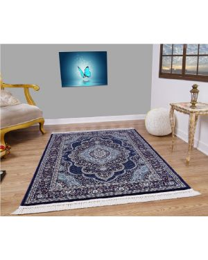 Vintage Traditional Style indus Navy Blue Rug carpet