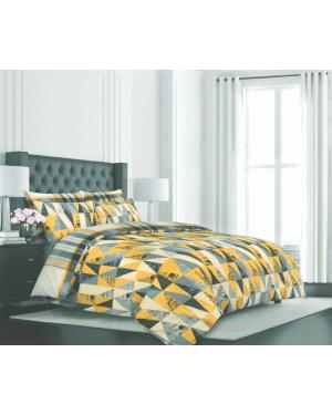 Sopron cotton complete bedding set printed design Orange Grey