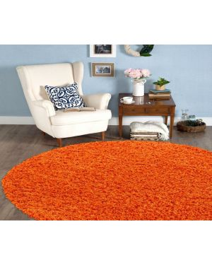 Moth Resistant Ashely Round Center Piece Orange Rug