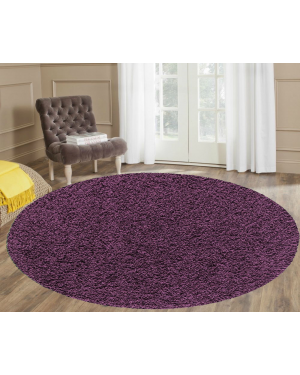 Nonallergic Ashely Purple Round Center Piece Rug