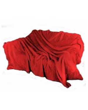 Faux kembe Silk Mink Throw Satin Sofa Bed Throw Runner in red