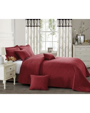 Horsen Red heat pressed bedspread with pillow shams
