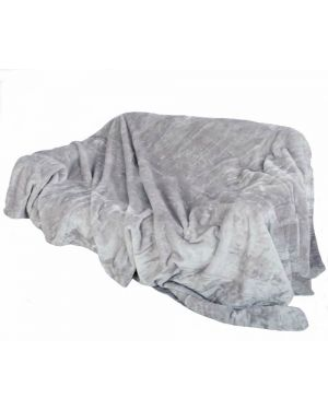 Faux kembe Silk Mink Throw Satin Sofa Bed Throw Runner in Silver