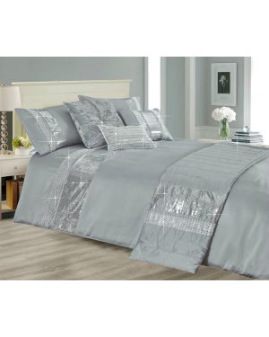 Machla 3 Piece Sequence Style Duvet/Quilt Cover and Pillow Cases Bedding Set