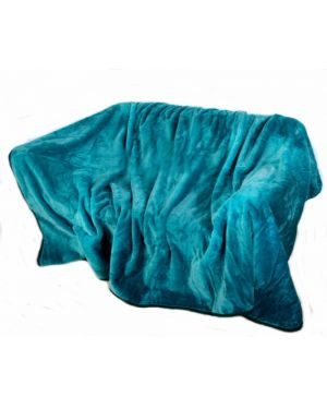 Faux kembe Silk Mink Throw Satin Sofa Bed Throw Runner in Teal