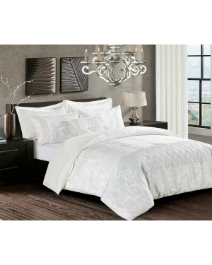 White Crushed velvet soyo Duvet Cover Set