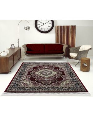 Vintage Traditional Style indus Wine Red Rug carpet