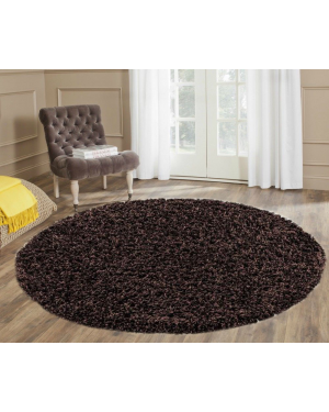 50mm Thicker Ashely Brown Round Center Piece Rug