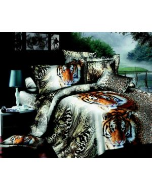 3D Effect 4 Piece Printed Duvet Quilt Cover Double King Superking Complete Bedding Set
