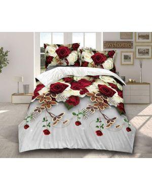 3D Quilt Cover 4 Piece Complete Bedding Set Floral Design