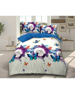 4 Pieces Duvet Set Quilt Cover Complete Bedding Set with Fitted Sheet Pillowcase