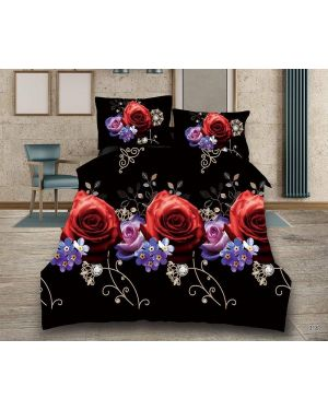 3D Floral Design Duvet Cover Complete Bedding Set