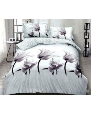 4 Pieces 3D Complete Bedding Set with fitted sheet & pillowcases