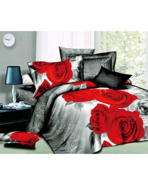 3D Design 4 Piece Duvet Quilt Cover Sets Fitted Sheet Complete Bedding and Pillowcases