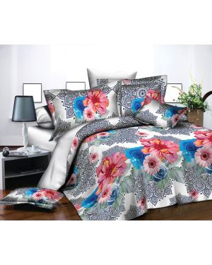 3d Effects Printed Complete Bedding Set 4 Piece Duvet Quilt Cover Fitted Sheet Pillowcase