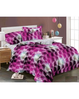 3D Printed Design Duvet Cover Complete Bedding Set With Fitted Sheet & Pillowcase