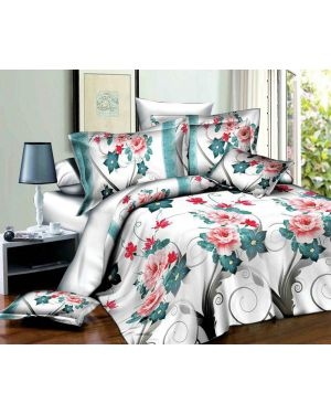 3D Effect Design 4 Piece Duvet Set Quilt Cover Complete Bedding Set