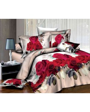 Home Decor Flowery 3D Effect Print Duvet Cover Quilt Case Bedding Set Pillowcase
