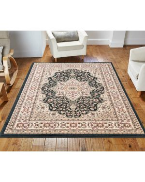lonwale Vintage carpet Floral Large Area Black Rug