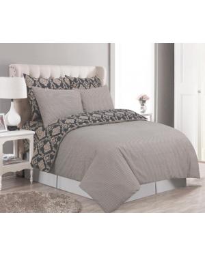 Sopron cotton complete bedding set printed design Brown