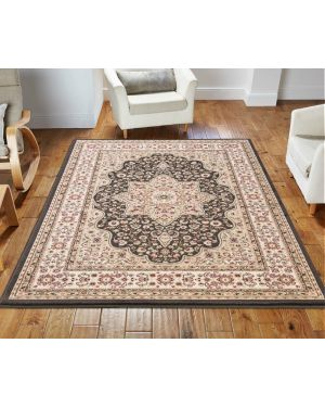 lonwale Vintage carpet Floral Large Area Brown Rug