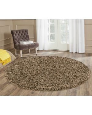 Ashely Coffee Moth Resistant Round Center Piece Rug