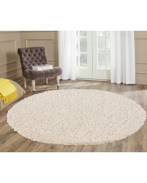 Stain Resistant Cream Round Center Piece Ashely Rug